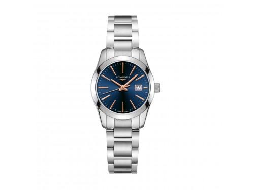 Orologio da Donna Longines Conquest Classic con Quadrante Blu e Bracciale in Acciaio