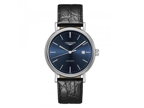 Orologio Longines Présence con Quadrante Blu e Cinturino in Pelle