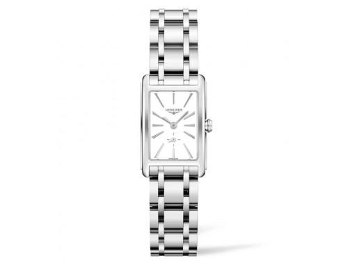Orologio da Donna Longines DolceVita con Quadrante Bianco e Bracciale in Acciaio