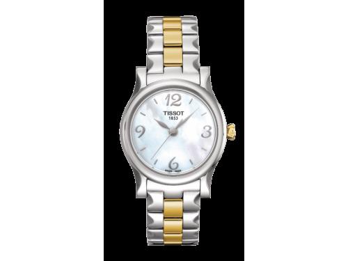 Tissot orologio donna Stylis-T Lady acciaio grigio e oro giallo