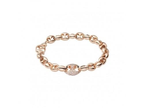 Bracciale Gucci Marina Chain in Oro Rosa e Diamanti