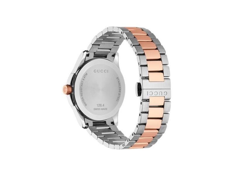 Gucci G-Timeless Orologio Uomo al Quarzo Medium in acciaio pvd oro rosa