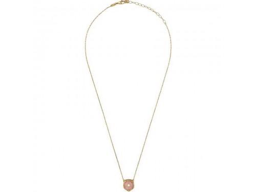 Collana Gucci Le Marché des Merveilles in Oro Giallo con Pendente Testa di Felino con Opale Rosa e Diamanti