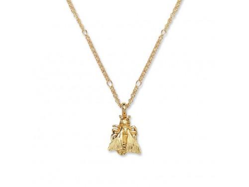 Collana Gucci Le Marché des Merveilles in Oro Giallo con Pendente Mosca