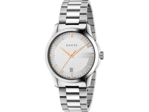 Gucci G-Timeless Orologio Uomo al Quarzo Medium quadrante argento
