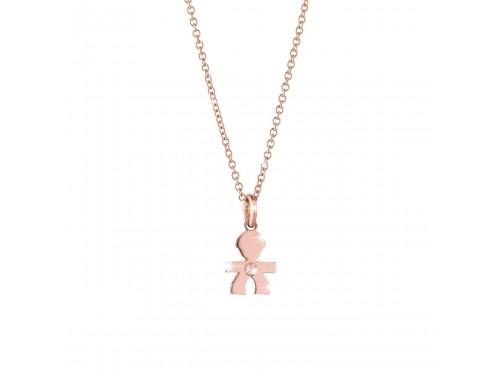 Ciondolo Maschietto in oro rosa e diamante le briciole Le Bebé gioielli