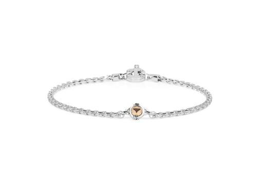 Bracciale da Uomo Barakà in Oro Bianco e Oro Rosa con Diamante Bianco