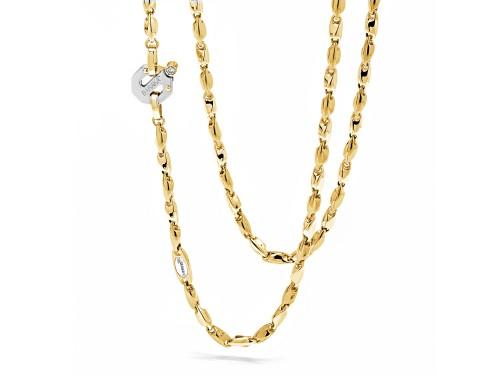 Girocollo da Uomo Barakà Nexus in Oro Giallo e Bianco con Diamante Bianco