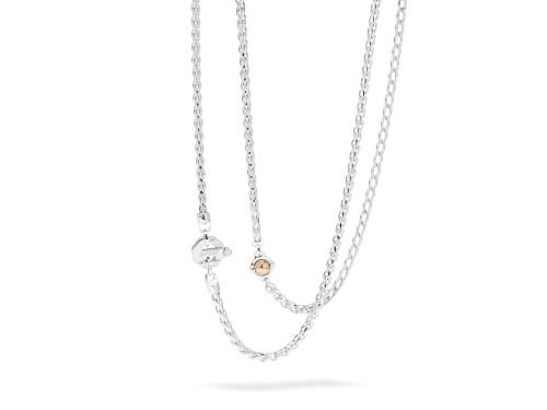 Girocollo da Uomo Barakà in Oro Bianco e Oro Rosa con Diamante Bianco