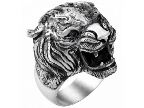 Anello da Uomo Zancan Vintage in Argento con Testa di Tigre