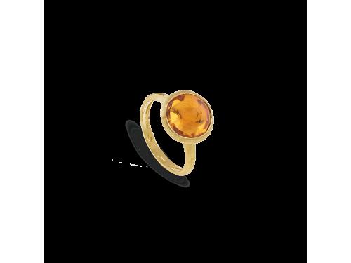 Anello Marco Bicego Jaipur in Oro Giallo con Quarzo Giallo Grande