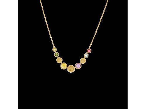 Collana Marco Bicego Jaipur in Oro Giallo con Mix di Gemme