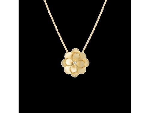 Collana Marco Bicego Lunaria in Oro Giallo con Fiore e Diamante