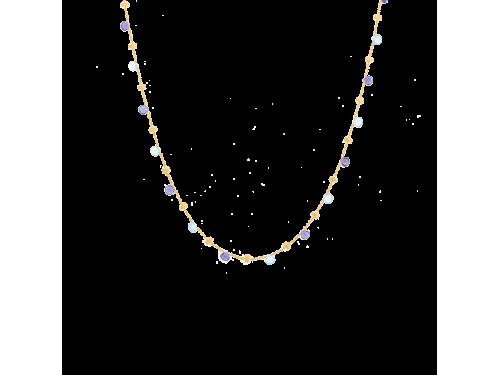 Collana Marco Bicego Paradise in Oro Giallo con Ioliti e Topazi Blu