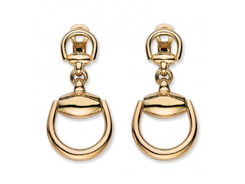 Orecchini Pendenti Gucci Horsebit in Oro Giallo