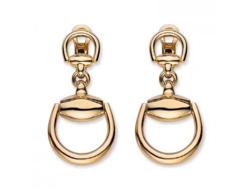 Gucci Orecchini a pendente Horsebit in oro giallo