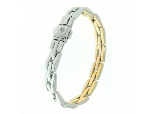 Bracciale Chimento Double Classic in Oro Bianco e Giallo con Diamante Bianco
