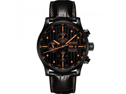 Orologio Mido Multifort Chronograph Special Edition con Quadrante Nero e Due Cinturini in Pelle
