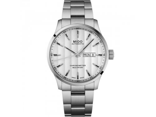 Orologio Mido Multifort Chronometer 1 con Quadrante Bianco e Bracciale in Acciaio
