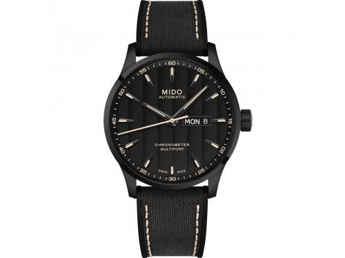 Orologio Mido Multifort Chronometer 1 con Quadrante Nero e Cinturino in Tessuto Nero