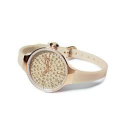 Le Lune Collana di perle con anelli in oro bianco diamantato Coscia Gioielli