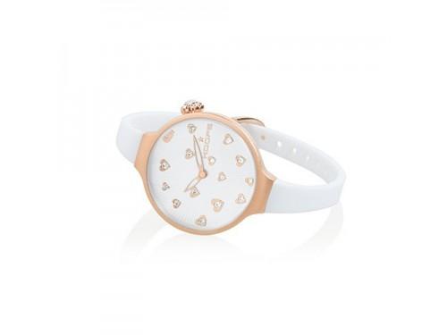 Hoops orologio al quarzo Donna Icon Hearts Bianco