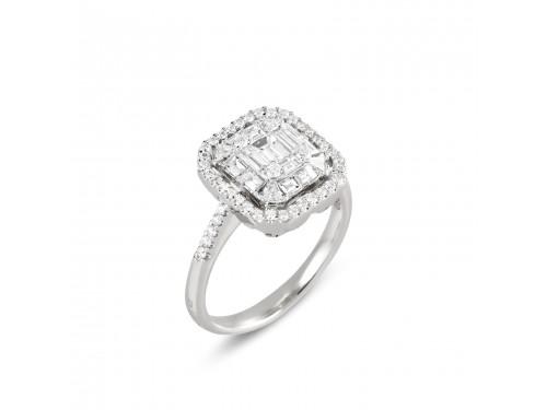 Anello Ponte Vecchio in Oro Bianco con Diamanti - collezione Aldabaran