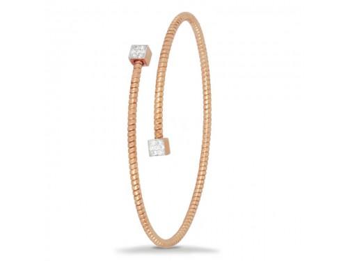 Bracciale K di Kuore Easy in Oro Rosa con Diamanti