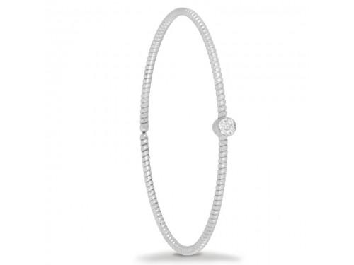 Bracciale K di Kuore Easy in Oro Bianco con Diamanti
