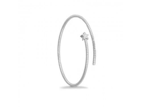 Bracciale K di Kuore Easy in Oro Bianco con Stella di Diamanti