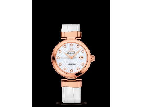Omega orologio donna De Ville Ladymatic in oro e diamanti