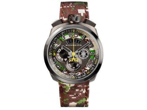 Bomberg Bolt 68 Cronografo Khaki Camo orologio da polso uomo